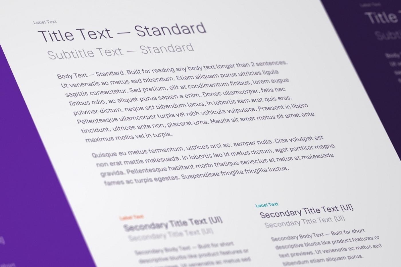 Watermark typography